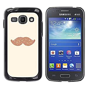 - Mustache Mania - - Hard Plastic Protective Aluminum Back Case Skin Cover FOR Samsung Galaxy Ace3 s7272 S7275 Queen Pattern