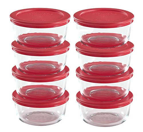 Pyrex 16-Piece Glass Food Storage Set with Lids ()