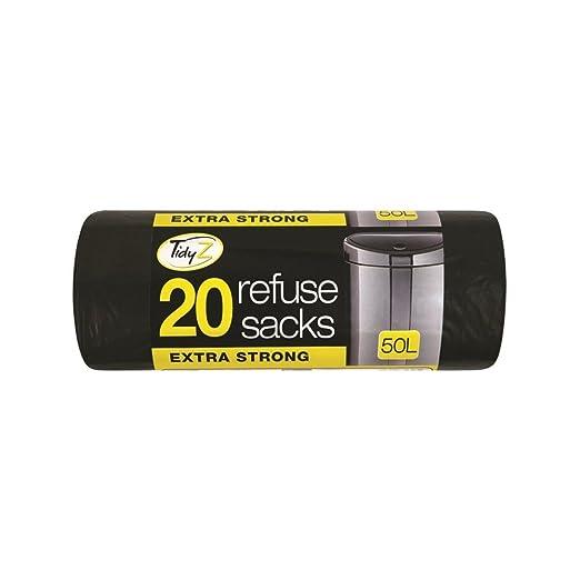 Tidyz Extra Fuerte Heavy Duty 20 Bolsas de Basura 50 litros ...