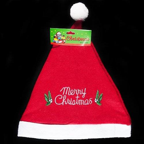 (Santa Hat with Embroidery - 1 per pack)