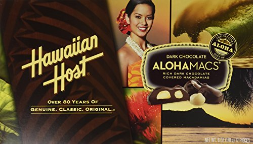 Hawaiian Host Alohamacs Dark Chocolate Covered Macadamia Nuts (1 Box) ()
