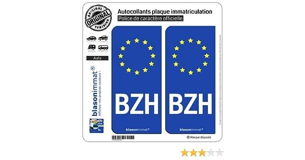 Run-R Stickers-Pegatinas de placa de matrícula con bandera de Identificación Europeo, BZH-Bañador para mujer: Amazon.es: Coche y moto