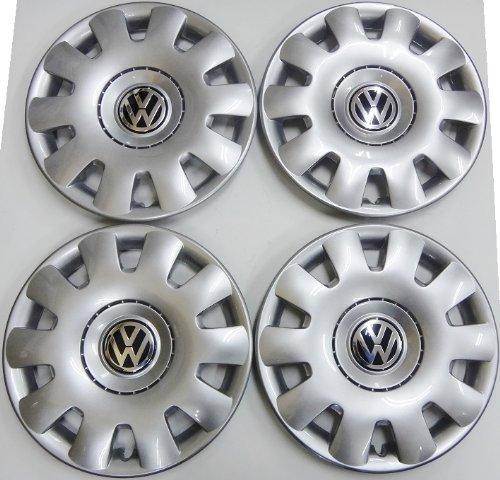 VW フォルクスワーゲン GOLF4 ゴルフ4 純正品 ホイールキャップ 4枚(1J0601147PGJW) B00HEB8QZ4