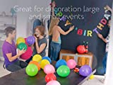 Dusico® Balloons Rainbow Set (100 Pack) 12 Inches, Assorted Bright Colors, Made With Strong Multicolored Latex, For Helium Or Air Use. Kids Birthday Party Decoration Accessory