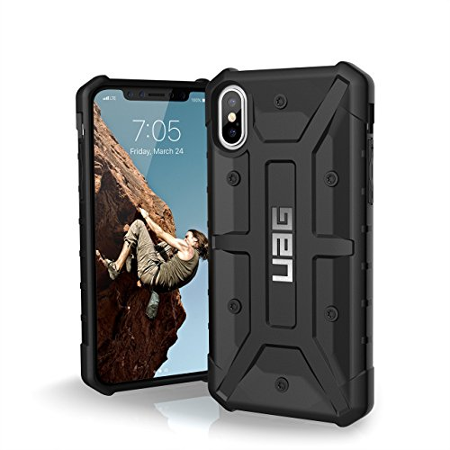 URBAN ARMOR GEAR UAG iPhone Xs/X [5.8-inch Screen] Pathfinder Feather-Light Rugged [Black] Military Drop Tested iPhone Case (Std Bumper Rear)
