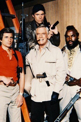 The A-Team George Peppard Mr. T Dirk Benedict 11x17 Mini Poster (Team Poster)