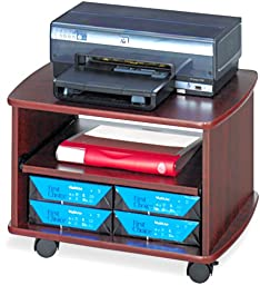 Safco Products 1954MH Picco Duo Printer/Fax Machine Stand, Mahogany