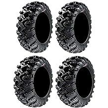 Full set of GBC Grim Reaper Radial (8ply) 27x9-14 and 27x11-14 ATV Tires (4)