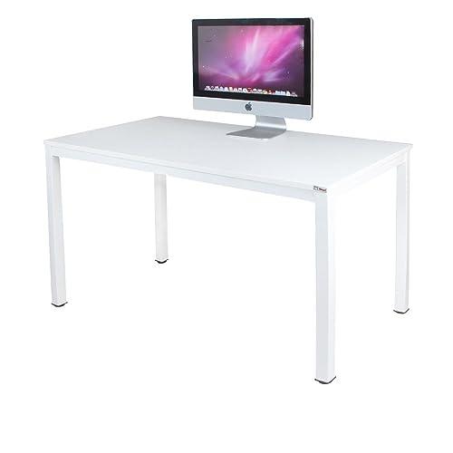 Need Escritorios 120x60cm Mesa de Ordenador Escritorio de Oficina Mesa de Estudio Puesto de trabajo Mesa de Despacho Blanco