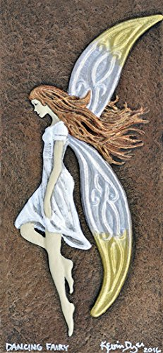 Dancing Fairy - Cast Paper - Fantasy art - Irish fairy - Celtic Fairy - Irish art - faery - faerie - fay - fae- wee folk (Fae Art)