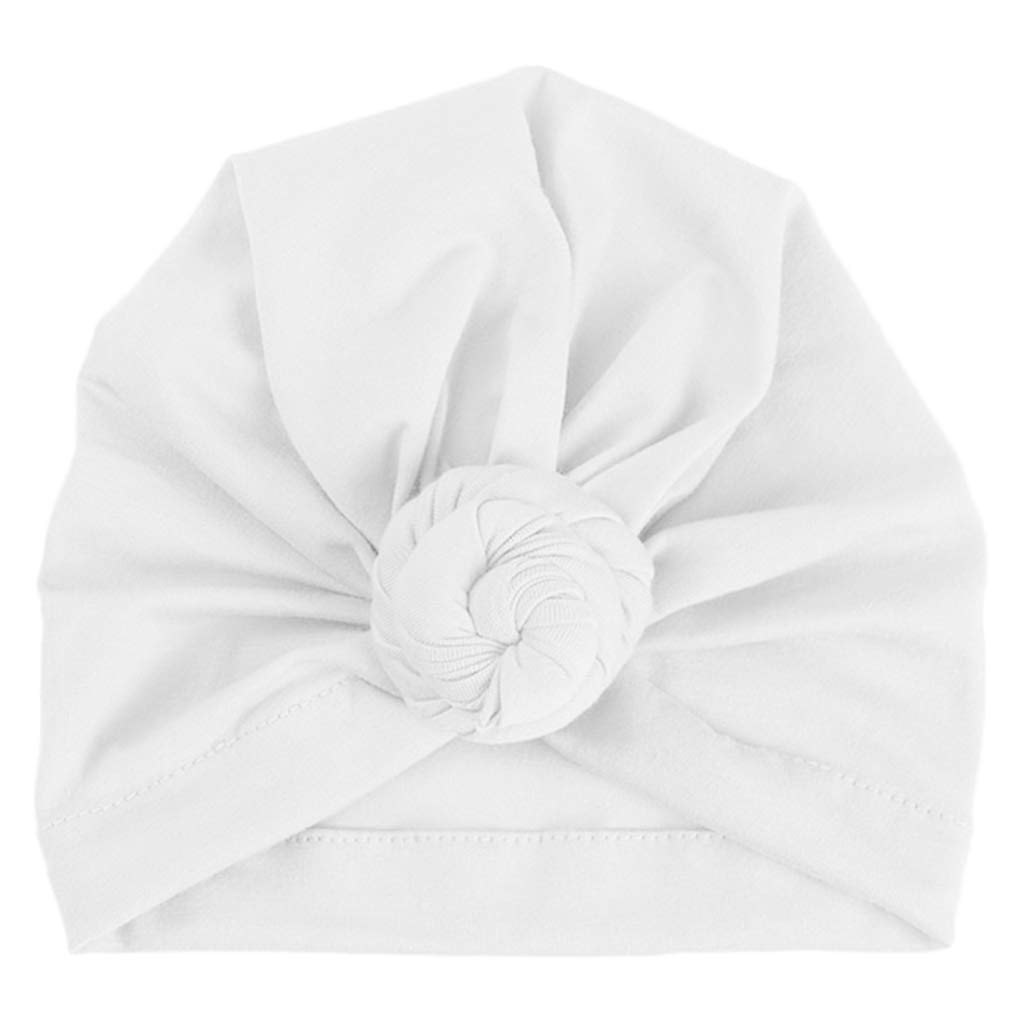 JOYKK Bonnet de Chimio pour Femmes Twist Knotted Hat Turbonnet Hijab Big Bow en Couleurs Unies 10# Vert Clair