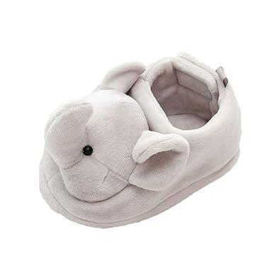 K-youth Primeros Pasos Zapatillas de Estar por Casa Animal para Niños Invierno Interior Caliente Suave Slippers Niñas Felpa Zapatos Bebe Navidad Zapatos ...