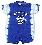 Kentucky Wildcats NCAA Baby Boys Infant Tie Dye Romper, Royal Blue