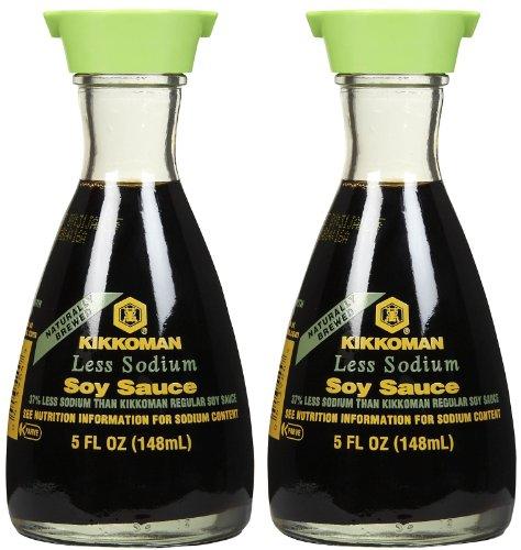 - Kikkoman Lite Soy Sauce Dispenser, 5 oz, 2 pk