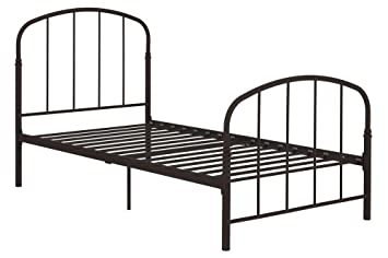 emily premium modern twin metal bed frame sturdy metal slats adjustable height no