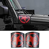 RilexAwhile Cowl Body Armor Stars Cover Sport Exterior Accessories Parts For Jeep Wrangler Rubicon Sahara JK & Unlimited 2007-2017 (Red)