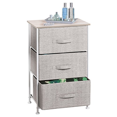 Cheap  mDesign Fabric 3-Drawer Storage Organizer Unit for Closet, Bedroom, Entryway - Linen
