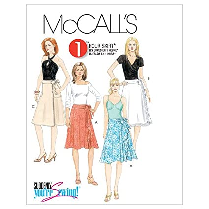 Amazon.com: McCall\'s Patterns M5430 Misses\' Wrap Skirts, Size D5 (12 ...
