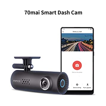 70mai Dash Camera for Cars, 1080P, 130° Wide Angle, Built-in WiFi Dash Cam,  Emergency Recording, APP Control Dashboard, Car Camera Recorder with Night
