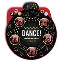 FAO Schwarz Dance Mixer Rhythm Step Playmat, Music Groove Step Game, Aux Jack Input, Speaker, Fun Active Play Toy for Boys and Girls, Battery Operated