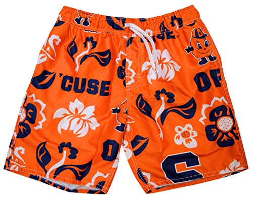(Wes and Willy NCAA Mens Floral Swim Shorts (XX-Large, Syracuse Orange))
