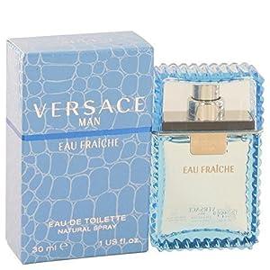 Versace Man by Versace Eau Fraiche Eau De Toilette Spray (Blue) 1 oz for Men 100% Authentic