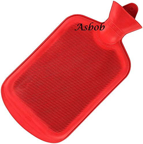 Asbob® hot water bags for pain relief non-electrical (2 Litre – Red)