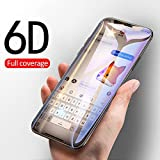COMORO Premium Tempered Glass For Vivo V17 Pro Temper Glass Edge to Edge Protection 9H Hardness Full Glue Cover Friendly Anti Scratch (Black) - Pack Of 1 (6D GLASS)