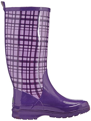Zapatillas Boots 10 Mujer Purple Caucho Violett Por Plaid flieder Violet Playshoes Morado Estar De Casa Wellies Wellington WqIpx1AB