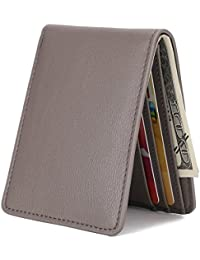 548d21bf7074 Mens Slim Front Pocket Wallet ID Window Card Case with RFID Blocking