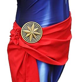 - 51bFmG3I1JL - Texmex Cosplay Lady Captain Suit Halloween Costume Spandex Bodysuit Zentai