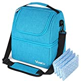 Vanku Insulated Lunch bag for Men Adult Lunch Box Cooler Tote Bag