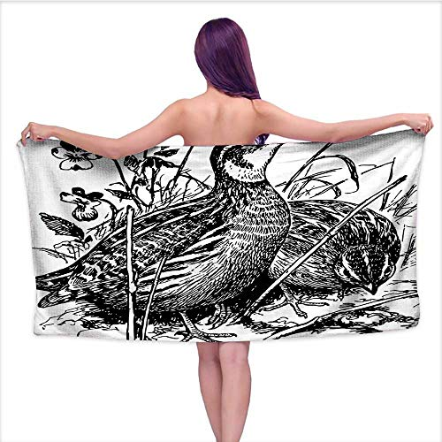 Beach Towel Super Soft & Absorbent , Ancient German Prover
