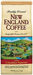 New England Coffee Colombian Supremo, 11 Ounce Bag (pack of 3)