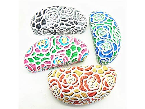 FOOBRTOPOO Rose Pattern Sunglasses Case Eyewear Protector Box para Mujer (Color Aleatorio)
