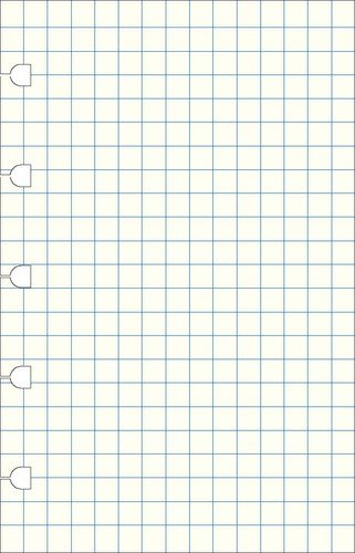Notebook Refill Grid Pocket Filofax