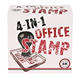 4 in 1 Rubber Stamps - Funny Phrases for Office Memos by Lagoon