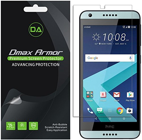 [6-Pack] Dmax Armor for HTC Desire 530 / 550 / 555 Anti-Glare & Anti-Fingerprint (Matte) Screen Protector - Lifetime Replacements Warranty -Retail Packaging (555 Replacement)