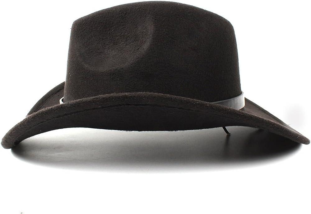 2018 Femme Homme Western Cowboy Hat Femmes Hommes Western Cowboy Chapeau Lady Feutre Cowgirl Sombrero Caps
