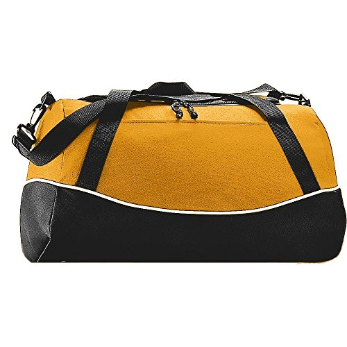 Augusta Activewear Tri-Color Sport Bag, Gold/Black/White, One Size (Color Bag Sport Tri)
