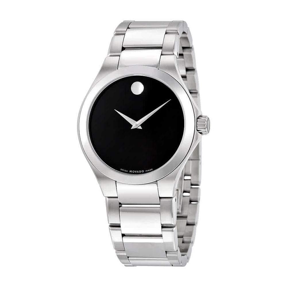Movado Defio Black Dial Stainless Steel Men S Watch 0606333
