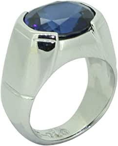 Fashion Ring For Men Silver 925,Inlaid With Zirconia,Size 55,RT-10