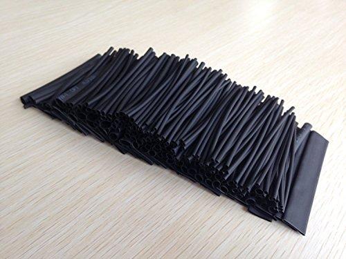 SummitLink 218 Pcs Black Assorted Heat Shrink Tube 8 Sizes Tubing Wrap Sleeve Set Combo