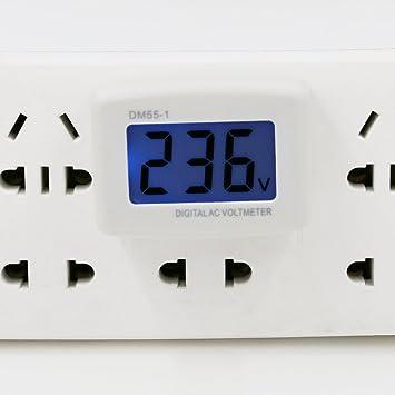 BNTECHGO AC 80-300V Wall Flat US Plug LCD Digital Voltmeter Volt ...