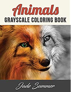 Animals Grayscale Coloring Book An Adult With 50 Beautiful Photos Of For
