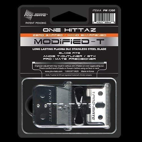 (Andis T-Outliner & GTX Replacement One Hittaz Zero Gap Modified T Blades (Extra Thin & Sharp) By Pro-Mate)