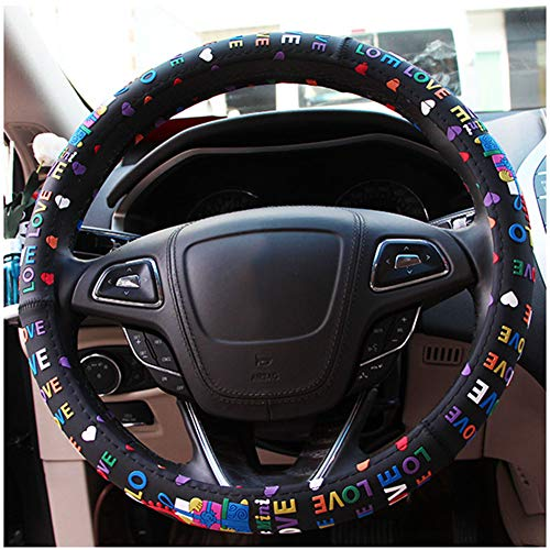 Cartoon PVC Steering Wheel Cover, Four Seasons Universal Cute Canary Silicone Steering Wheel Cover