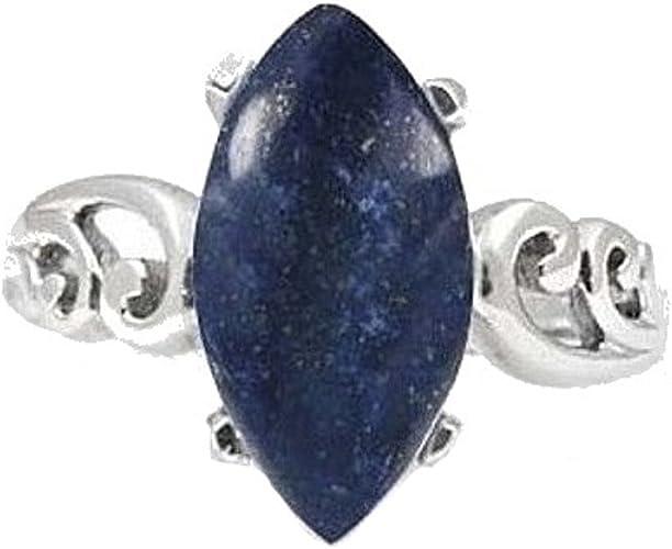 Hecho a mano pulsera de plata esterlina 925 con Piedras Oval Lapislázuli Y Caja De Regalo