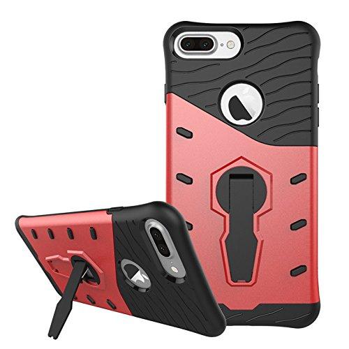 Apple iPhone 7 Plus 5.5 pouces 2016 - Coque rouge Protection HYBRID avec stand - Accessoires pochette XEPTIO case
