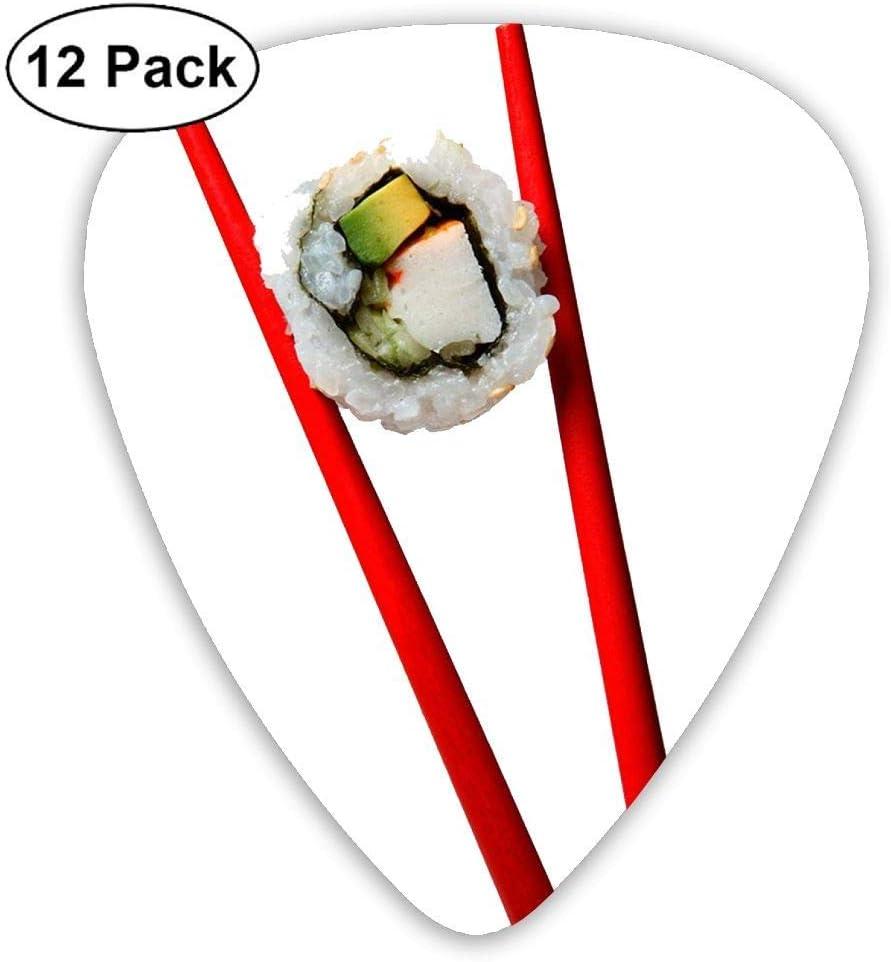 Sushi Roll On Chopsticks Classic 12 Pack Guitar Picks Plectrums ...
